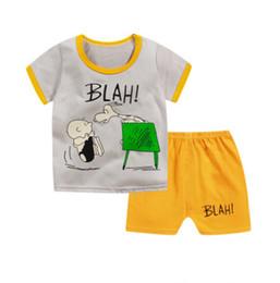 Wholesale Boy Pyjamas Cartoon - Summer winter girls pajamas shorts sleeve boys sleepwear cotton pyjamas children cartoon kids pajama sets