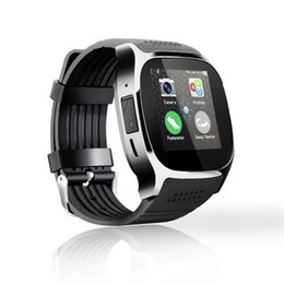 Wholesale Remote Unlock - T8 Bluetooth Smart Watch Unlocked Watch Cell Phone with Sim Card Slot Passometer Wristwatch Waterproof Smartwatch for Android