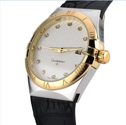 Wholesale Tungsten Watch Diamond - Hot Design Fashion Swiss Luxury brand classic OMEGAING Women's Leather Diamond quartz watch