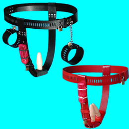 lingerie chastity Australia - PU Chastity Belt Female Bondage Panties with Anal Plug Chastity Underwear Sexy Lingerie Chastity Device Sex Toys for Women G7-5-66