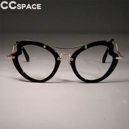 21f53696a2 Oversized Cat Eye Óculos Frames Mulheres Wider Tamanho Borboleta Marca  Optical Moda Computer Glasses 45620 à venda computador óculos para mulheres