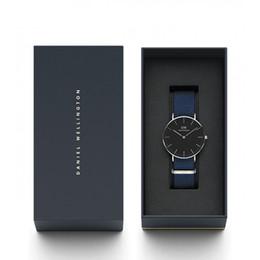 señoras impermeable relojes deportivos Rebajas 2018 nueva marca de nylon hombres y mujeres pareja moda casual reloj deportivo impermeable oro rosa azul cuarzo reloj de dama Relogio masculino