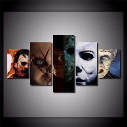 Wholesale movies life - Hellraiser Horror Movie,5PCSHome Decor HD Printed Modern Art Painting on Canvas (Unframed Framed)