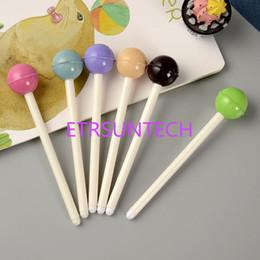 2019 joli stylo gel coloré Personnalisé créatif papeterie coloré sucettes stylo neutre créatif mignon gel stylo étudiant papeterie livraison gratuite QW7945 joli stylo gel coloré pas cher