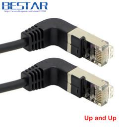 2 Dirsek Yukarı Açılı 90 Derece cat5e 8P8C FTP STP UTP Kedi 5e Ethernet Ağ Kablosu RJ45 Lan Patch Kablosu 0.4 m 1 m 2 m 3 m 5 m Açı nereden