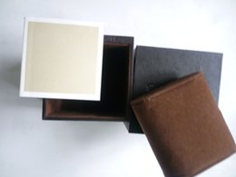 Wholesale Case Board - Brand Gift Watch Box with booklet MDF Board Small box Brown Sell Special national famous wrist watch box case clockCHINA FACTORY