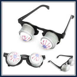 Wholesale Eyeball Halloween - Halloween Props Pop Out Eye Dropping Eyeball Glasses Toy Gags Prank Joke Kids Halloween Carnival Party Decoration 6Z