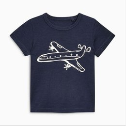 Wholesale Planes Shirts - Hot selling 2018 Little Maven NEW ARRIVAL boys Kids pure high quality Cotton Short Sleeve Cartoon plane causal summer comfortable t shirt