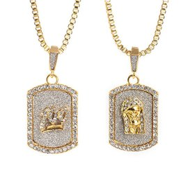 gold dog tags wholesale Coupons - Rhinestone Glitter 100 Military Dog Tag Pendant 2018 Zinc Alloy Gold Charm Iced Out Rhinesstone Emoji 100 Men's Hip Hop Jewelry Gift