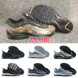 Wholesale Neon Green Laces - New Color 97 UL 17 PRM 2018 Women Men Running Shoes WMNS 97 Neon Bullet Metallic Air Plus TN CR7 Japan Camouflage Sneakers