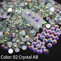 contenitore glitter all'ingrosso Sconti 1440 pz / pacco SS3-SS50 cristallo AB decorazioni per unghie decorazioni con strass per 3d fascino vetro flatback non hotfix decorazioni per unghie fai da te