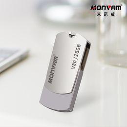 Laser rotativo on-line-Gravação a laser seu logotipo do negócio Real capacidade Usb Memory Stick de Metal Pendrive USB Flash Drive Rotativa Usb Memory Stick Para Monvam V80