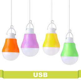 Wholesale Blue Night Light Bulbs - High Power Energy Saving Bulb USB Portable Led Night Light 5V DC 5W For Outdoor Work With Power Bank Notebook Camping Light Led