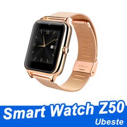 support intelligent compatible apple ios Promotion Z50 montres intelligentes soutenir carte SIM smartwatches montre intelligente bluetooth compatible avec IOS et Android avec boîte-cadeau