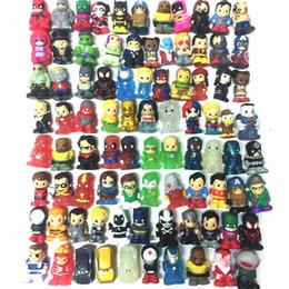 2019 decoração de pavão de resina Promoção Ooshies DC Comics / Marvel Ooshie Toppers Lápis Figura de Ação Toy Kids Presente Da Boneca de Presente de Natal Decoração Do Partido
