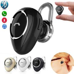 Наушники маленький беспроводной bluetooth онлайн-Мини Bluetooth Earbud маленький беспроводные наушники с микрофоном Handfree в ухо наушники стерео Fone де Ouvido Bluetooth-гарнитура для IPhone Andro