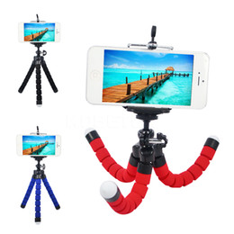 Wholesale camera mounting - Flexible Tripod Holder For Cell Phone Car Camera Gopro Universal Mini Octopus Sponge Stand Bracket Selfie Monopod Mount With Clip