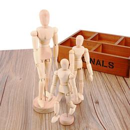 Jouets en bois mobiles en Ligne-4.5 5.5 8 POUCES Artiste Mobile Membres Homme Jouet En Bois figurine Modèle Mannequin bjd Art Sketch Dessiner Action Figure Jouet 2017 NOUVEAU