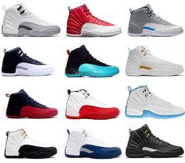 huge discount 92a2f c44fc NUOVO 2018 Economici 12 XII Mans Scarpe Da Basket Sneakers da donna Taxi  Playoff Gamma Blu Grigio Sport Scarpe Da Corsa Per gli uomini US 5.5-13