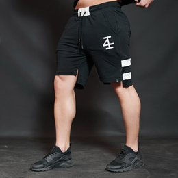 Wholesale Fitness Minutes - 2018 brother summer shorts muscles tide male fitness breathable loose five minutes of