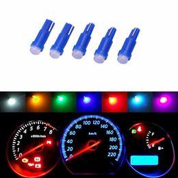 Wholesale Ceramics Dc - 100pcs Car Interior T5 Led 1 SMD DC 12V Light Ceramic Dashboard Gauge Instrument Ceramic Car Auto Side Wedge Light Lamp Bulb