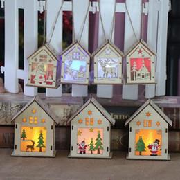 рождественские подарки для лучших друзей Скидка DIY Хижина деревянные светодиодные бар семья Рождественская елка украшения огни рождественские украшения лучшие подарки для друзей QW8515