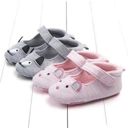 8107518fefd09 Mignon Cartoon Chat Motif Bébé Nouveau-Né Toddler Girls Crèche Chaussures  Landau Semelle Souple En Coton Prewalker Anti-slip Bébé Chaussures 0-18 M