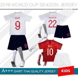 Wholesale England Home Jersey - 2018 ROONEY World Cup England Jersey 18 19 kids Home White KANE BARKLEY STURRIDGE STERLING HENDERSON VARDY HART ALI Away Football kit