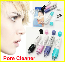 Wholesale acne skin - Best Cleaning Skin Blackhead Remover Nose Cleaner Electric Facial Dirt Suck up Acne Vacuum Pore Cleanser Face Care Tool Tighten Pores