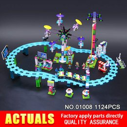 Wholesale Amusement Toys - LEPIN 01008 friends 1124pcs Amusement park roller coaster Model Building blocks Bricks Compatible Toy New Year Gifts 41130