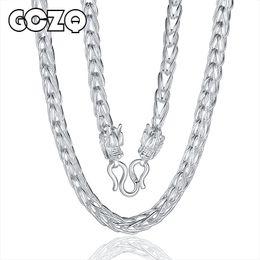Argentina GCZQ joyería fina S999 collar de plata de ley para hombre joyería con estilo elegante collar de plata esterlina supplier s999 sterling silver Suministro