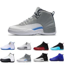 nike air jordan aj12 Vente en gros 12 Classe de 2003 Bordeaux Basketball Chaussures Hommes Chaussures de Sport 12s TAXI Playoff BLAck Suede Sports Baskets Haute Qualité Sneakers ? partir de fabricateur