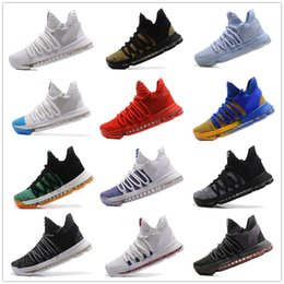 Wholesale Kd Sneakers - Cheaper 2017 Kevin Durant 10 Basketball Shoes Men High Quality KD 10 Training Sneakers KD10 Athletic Shoes Size 7-12