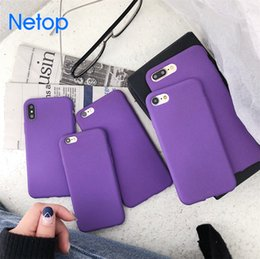Wholesale apple matting - Netop Purple Color Matting Touch Design Soft Silicone Material For Iphone 6 7 8 Iphone X