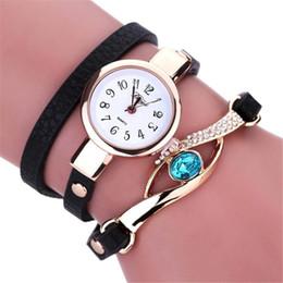 2019 envolver alrededor de las mujeres relojes Top Brand Luxury Women Relojes Moda Casual Mujer Reloje Diamond Wrap Around Leatheroid Pulsera Reloj de pulsera de cuarzo rebajas envolver alrededor de las mujeres relojes