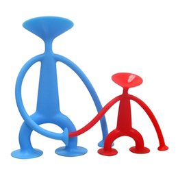 Wholesale doll silicone child - Silicone Sucking Disc Toys Children Kid Beneficial Wisdom Gift Safe Red Blue Student Little Doll Novelty Games Creative 7jj2 V