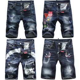 Wholesale coated denim shorts - free shipping Men's Brand Denim Shorts 2018 High Quality Summer DS Designer Slim Jeans Italian Brand Fashion Shorts