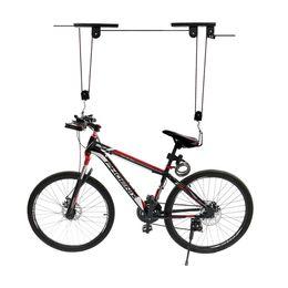 Tetto della bicicletta online-Bike Bicycle Lift Soffitto Paranco Storage Garage Bike Hanger Risparmia Spazio Roof Soffitto Pulley Rack Parete Montato Bike Hook Bearing 20KG