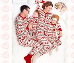 77b6c819ff29c Homewear Christmas deux pièces ensemble Famille Correspondant Imprimé À  Manches Longues Parent-enfant Ensemble Pyjama Outfit Enfants Garçon Fille  Hommes ...