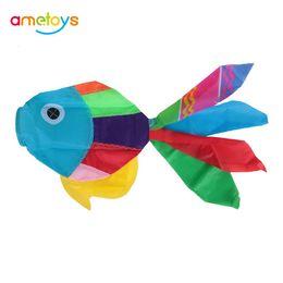 pipas voar Desconto Novo 70 cm Comprimento Multicolor 3D Kites Bonito Peixe-tipo Cauda Cauda Cauda Kite Kits Acessório de Controle Fácil Voar para o Divertimento Ao Ar Livre