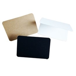 Wholesale Student Paper - 10 Pcs lot Brown White Black Students DIY Vintage Blank Series Kraft Paper   Greeting Card Gift Card Cover of notebook