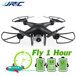 2019 bras de morceau Drones professionnels JJRC avec caméra HD Quadricoptère Mode d'attente élevée Transmission en temps réel FPV Dron 20 minutes d'autonomie