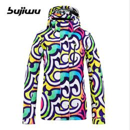 Bujiwu Brand Women Skiing Jacket Snowboard Clothing Super Warm Windproof  Waterproof Breathable Female Outdoor Sport Wear Jacket 2f5fb0c0d