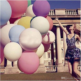 Wholesale Helium Balloons Big - Wholesale Colorful 36 Inches Round Giant Balloon Ball Helium Inflatable Big Large Latex Balloons For Birthday Party Wedding Decoration