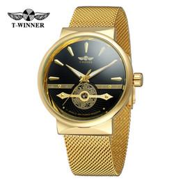 Top2-GANADOR de la nueva marca de moda para hombre con forma automática de red hueca con un reloj clásico reloj de moda regalos de fiesta desde fabricantes