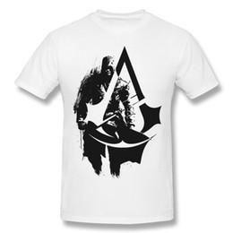 2019 assassini creed t shirts Coupon Uomo 100% cotone Assassins Creed T Shirt Uomo girocollo nero manica corta da indossare t-shirt casual di grandi dimensioni assassini creed t shirts economici