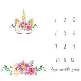 2019 meilleurs cadeaux pour les nouveau-nés Tapis de dossier de croissance de nouveau-né de couverture molle superbe avec le kilomètrage bref Conception Prop Tapis de coton d'ins d'infantile pour le meilleur cadeau de bébé 19fd ZZ meilleurs cadeaux pour les nouveau-nés pas cher