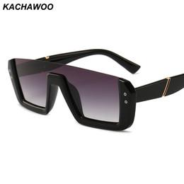2019 gafas medio marco color rosa Kachawoo gafas de sol vintage de montura media hembra, lentes de una pieza negro rosa retro gafas de sol para la moda femenina rebajas gafas medio marco color rosa