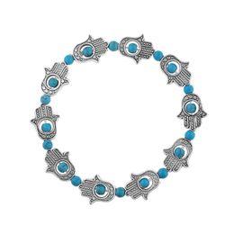 Wholesale Turquoise Bars Wholesale - Natural stone bracelets 2018 new fashion big Beads personality turquoise Bracelets bangle for women Jewelry Fashion Wholesale free shipping