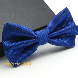 Wholesale Tuxedo Plaid Bow Tie - 1PC Fashion Royal Blue Bow Tie For Men Jacquard Plaid Bowtie Grid Leisure Wedding Tuxedo Brand Cravat Free shipping Butterfly